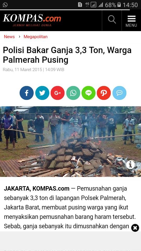 Bakar Ganja di Halaman Polrestabes Medan, Polisi dan Warga Sekitar Sempoyongan