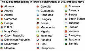 Inilah Daftar 32 negara hadiri pembukaan kedutaan AS di Yerusalem