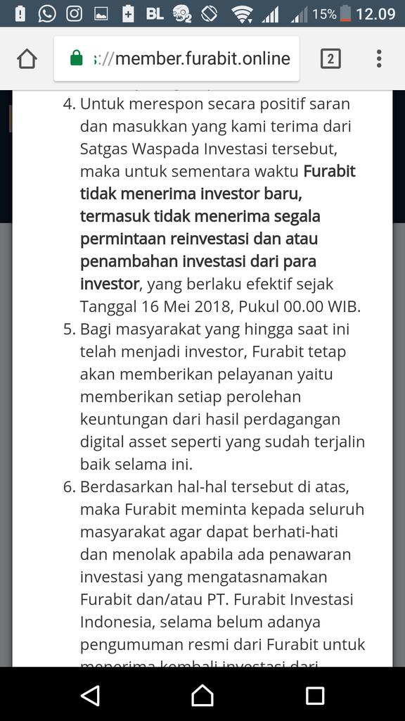 Pengalaman Manis Investasi di FURABIT, Profit 30% Perbulan. Terbukti gan