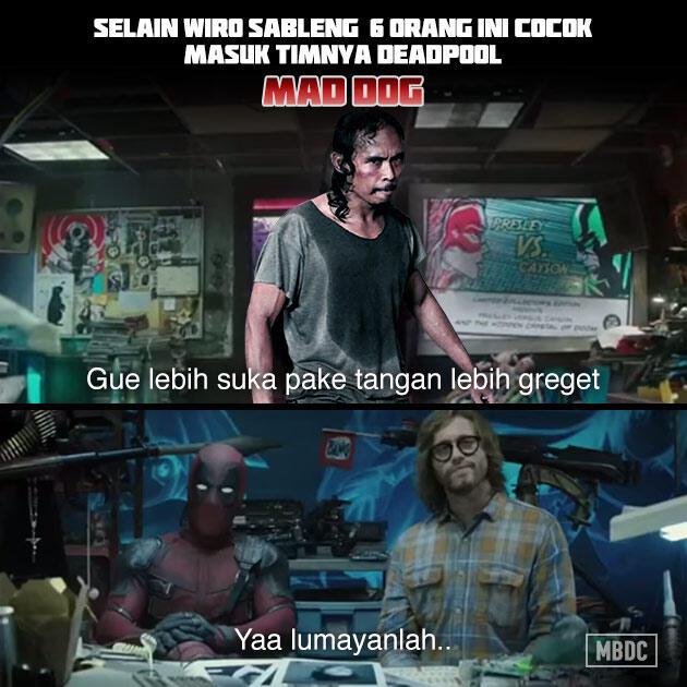 Meme Parodi Artis Indonesia Audisi Masuk Tim Deadpool