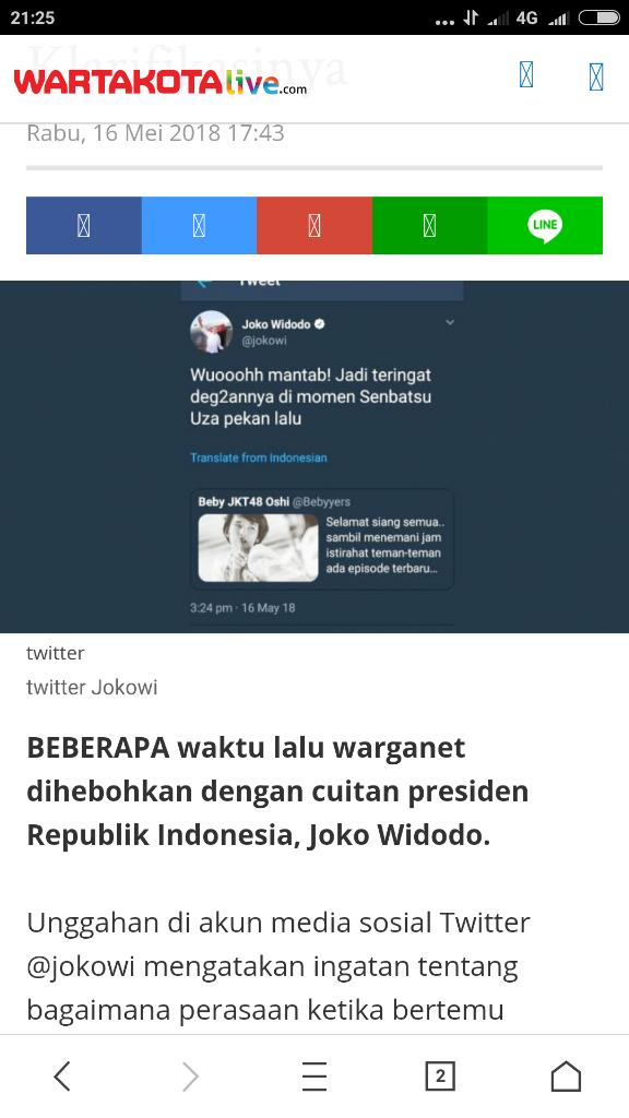 Admin Twitter Presiden Ngaku Salah Posting Soal JKT48, Ini Klarifikasinya