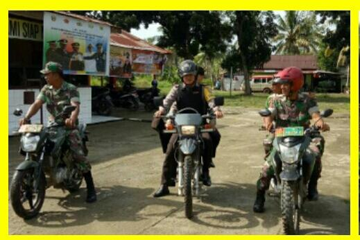 Polisi dan TNI Giat Patroli Terpadu di Gereja Kecamatan Banyuasin I