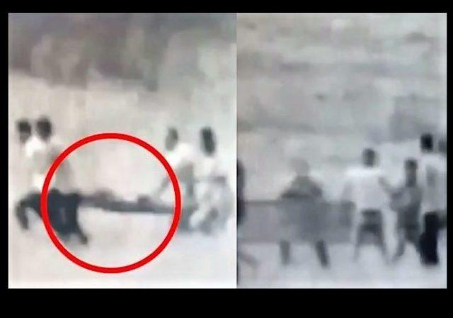 """gaza pallywood miracle :""""wounded"""" man carried on strecher gets up and walk"""
