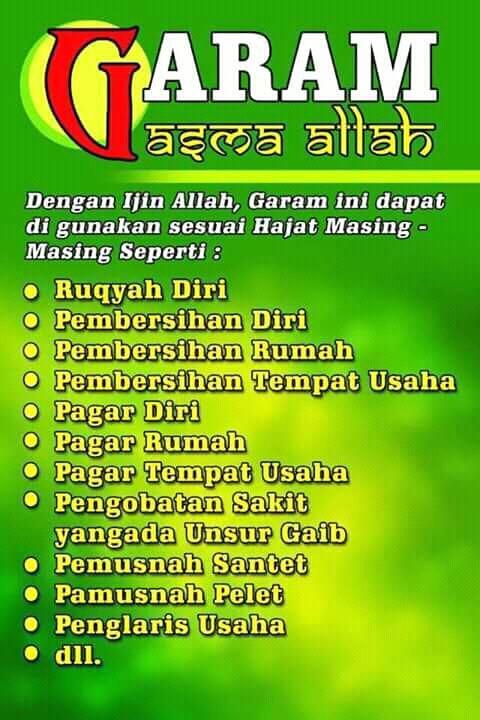 Garam Ruqyah (kisah nyata)