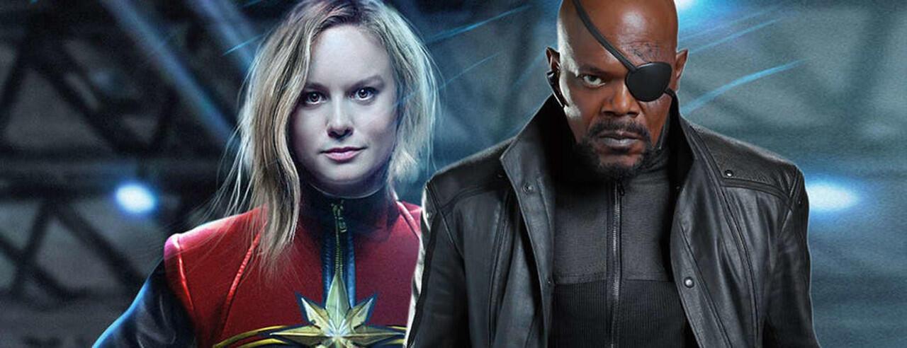 Captain Marvel Ungkap Penampakan Masa Muda Nick Fury