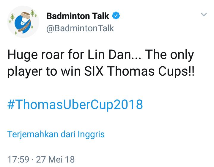 LIN DAN ( PENGUASA THOMAS CUP )