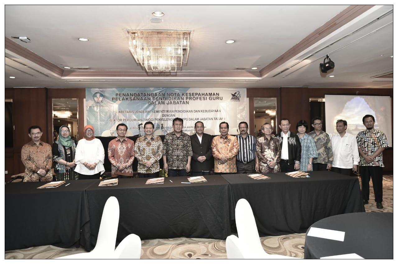 38 Kampus Teken MoU Penyelenggaraan PPG dalam Jabatan 2018