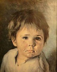 "Ceria tentang lukisan terkutuk ""The Crying Boy"" yang gak bisa dibakar."