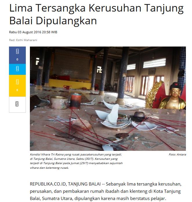 Sidang Penistaan Agama di Pengadilan Negeri Medan Diwarnai Isak Tangis Terdakwa