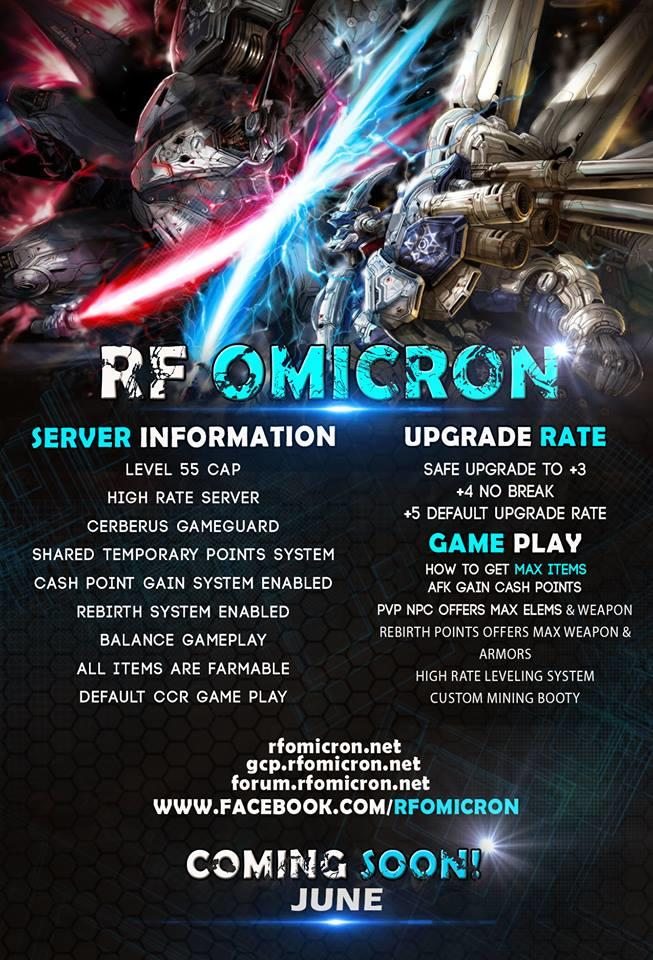 [HOT] --== RF OMICRON CAP 55 PVP PHILIPPINES PRIVATE SERVER ==--