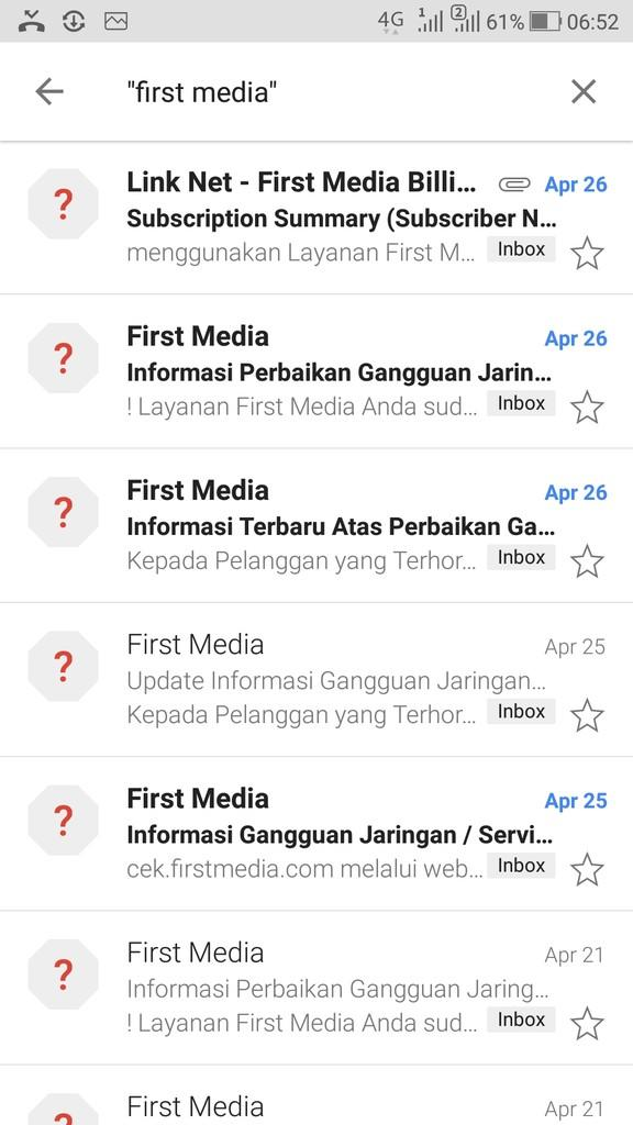 Gangguan layanan First Media