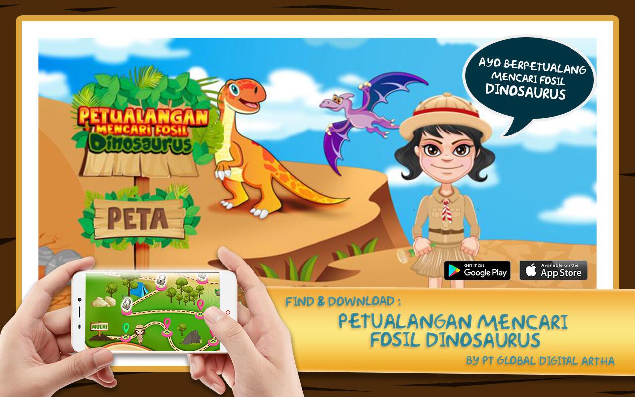 Game Mobile Indonesia Petualangan Mencari Fosil Dinosaurus