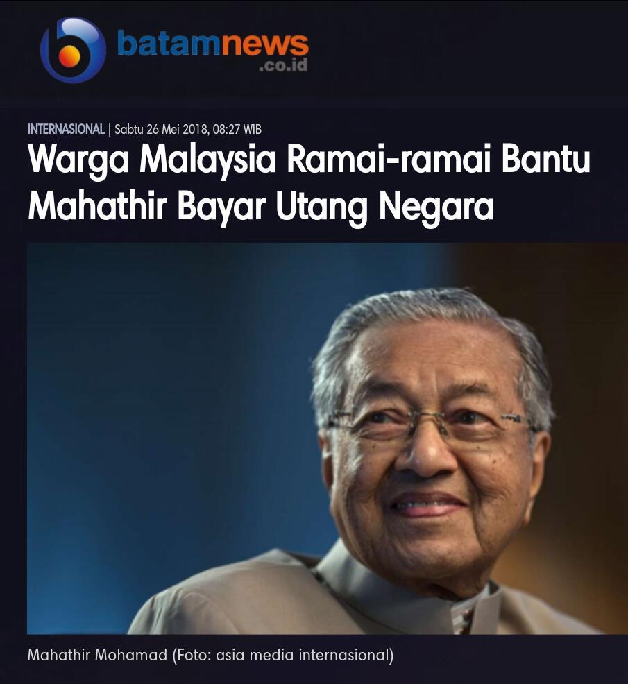 Mahathir Bebaskan Pajak-pajak di Malaysia