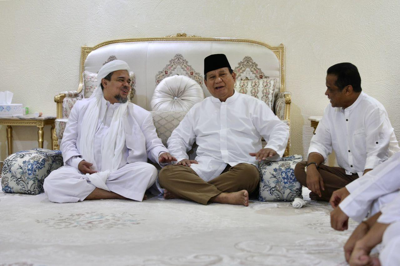 3 Pesan Rizieq Setelah Bertemu dengan Amien Rais dan Prabowo