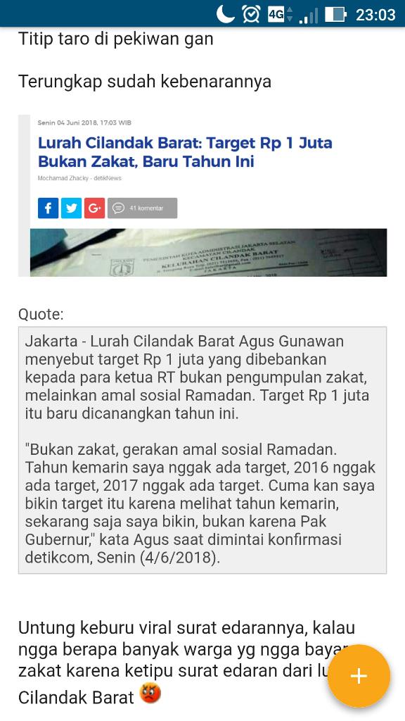 Zakat Ramadan Tak Capai Target, Ketua RT: Orang Kelurahan Manyun