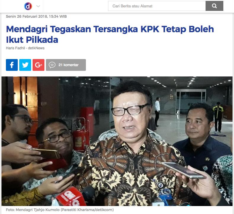 Fokus Pilkada, Ganjar Pranowo Mangkir dari Panggilan KPK