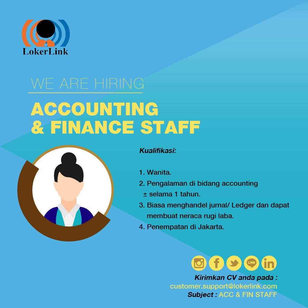 Finance & Accounting Staff (JAKARTA)