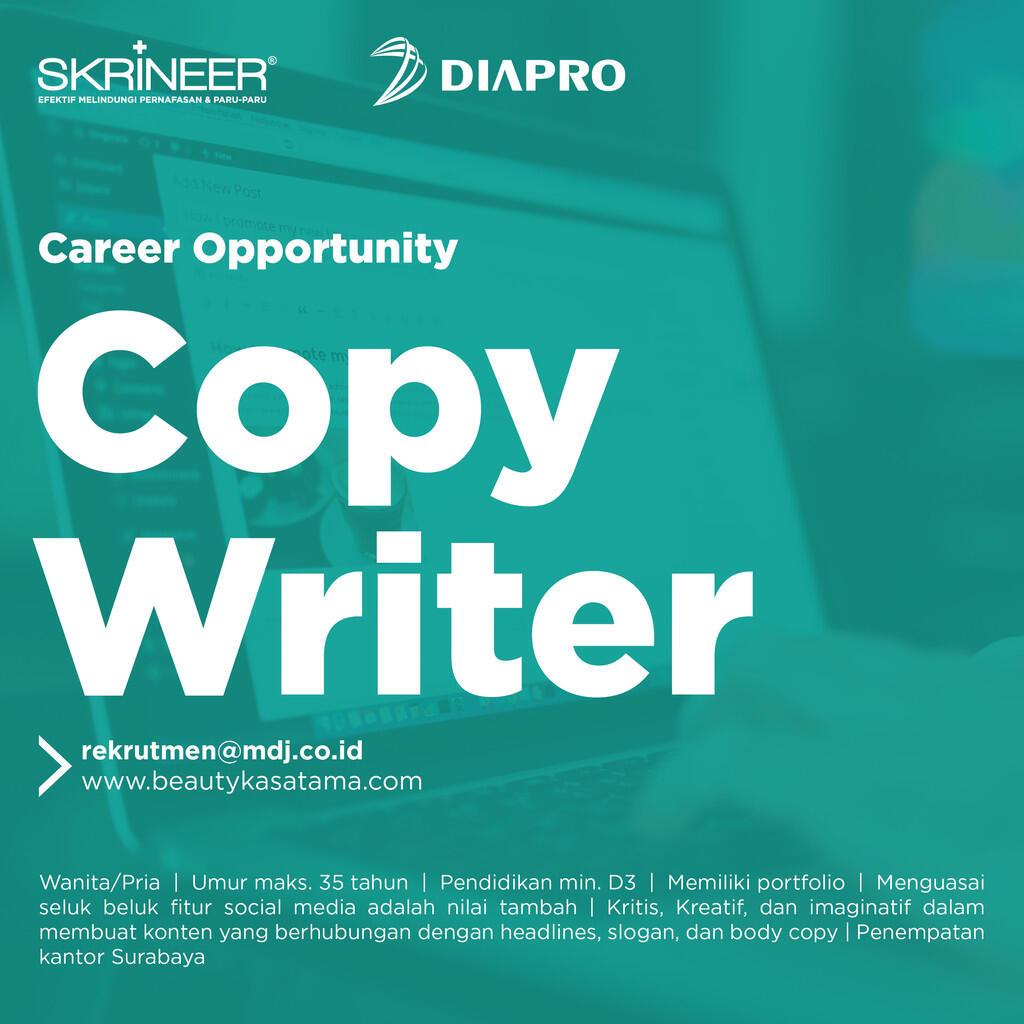 Lowongan Kerja - Copy Writer familiar with Social Media