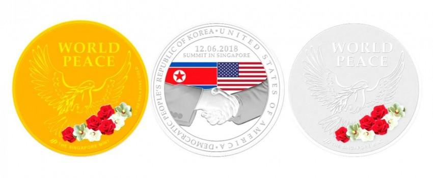 Singapura Siapkan Medali Emas untuk Trump dan Kim Jong-un