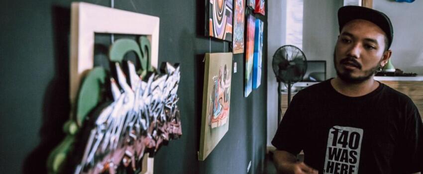 Kumpul Seru Seniman Grafiti di Artotel Surabaya, Ngabuburit Jadi Asyik