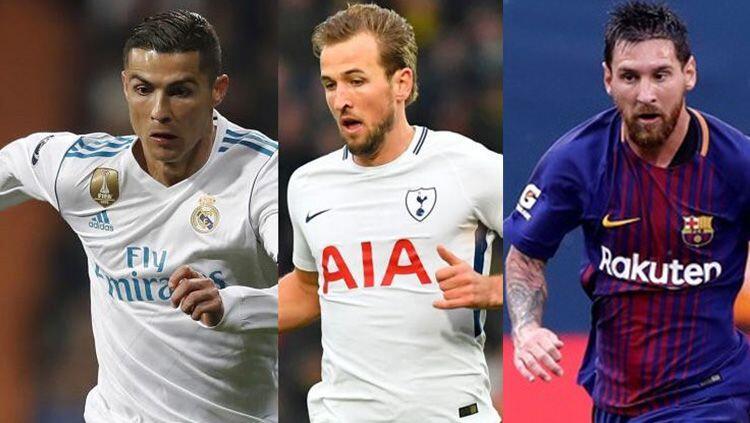Harry Kane Kalahkan Lionel Messi dan Cristiano Ronaldo