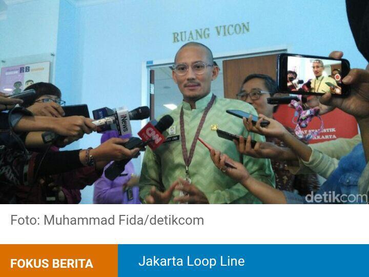 Sandiaga: Jakarta Loop Line Masih Tunggu Proposal