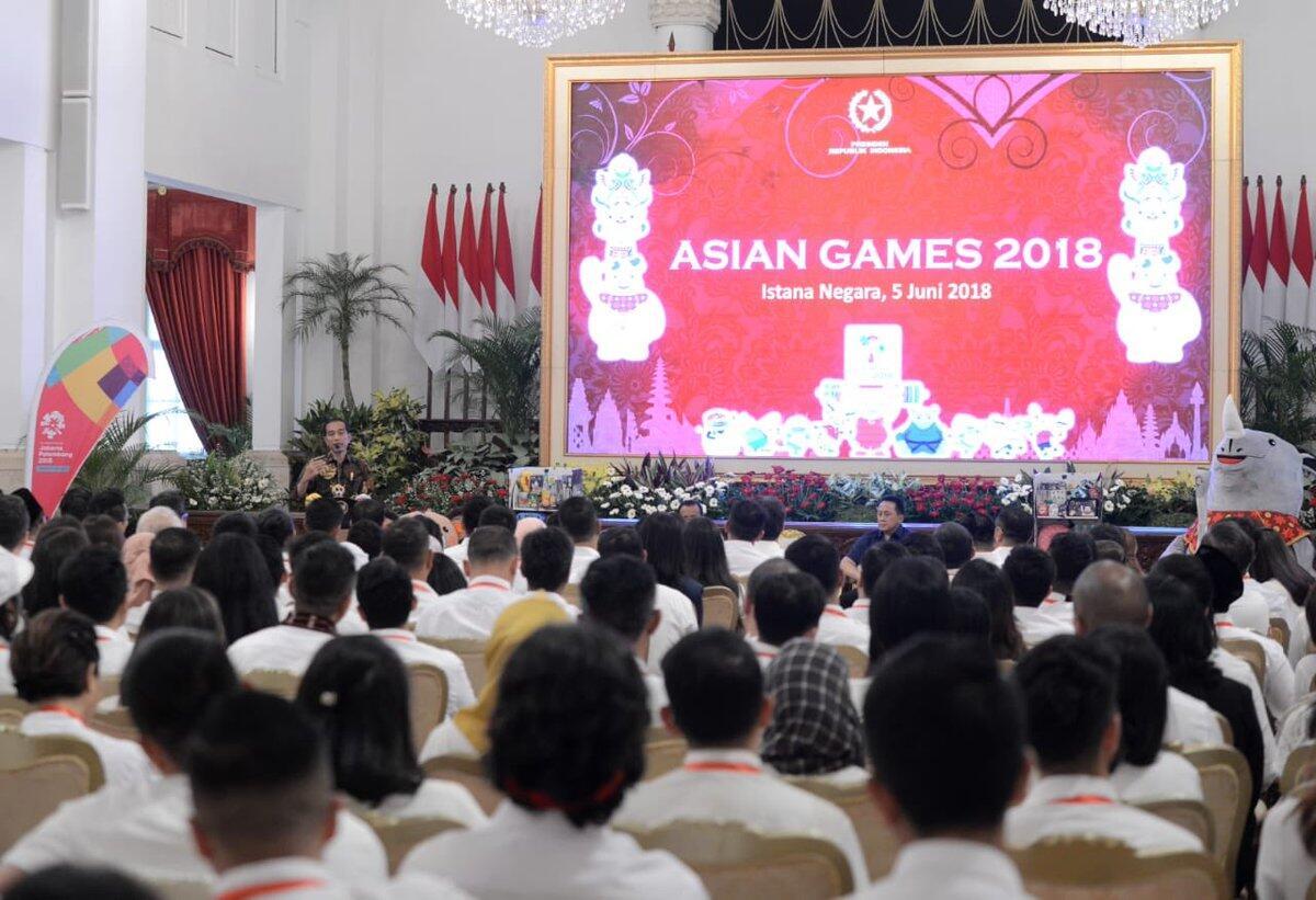 Presiden Ajak Publik Figur dan Atlet Agar Masyarakat Demam Asian Games