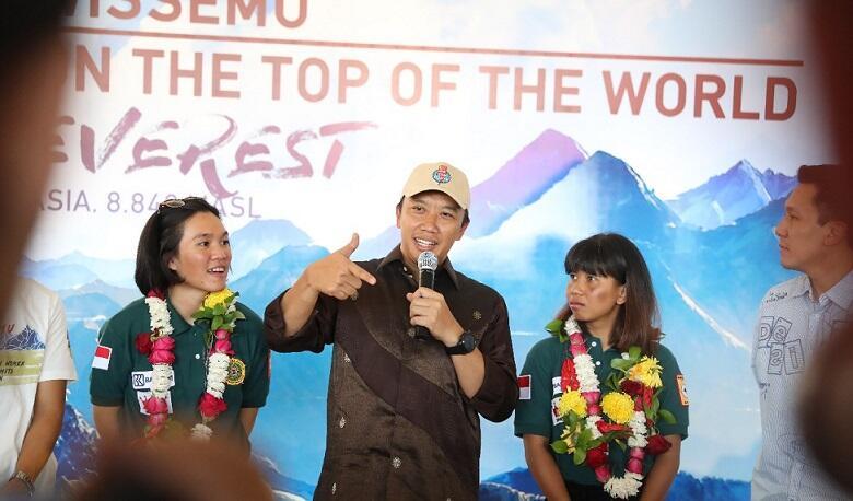 Taklukkan Tujuh Puncak Dunia, Menpora : Ini Inspirasi Bagi Atlet Asian Games 2018