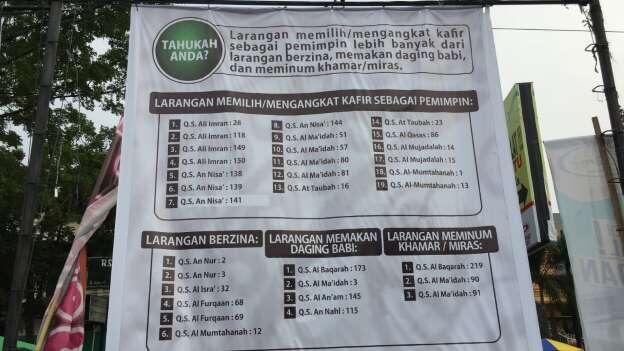 Muncul Baliho Larangan Pilih Nonmuslim di Medan, PDIP Protes