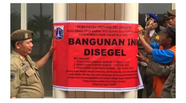 Gubernur Anies Segel Bangunan di Pulau Reklamasi B dan D
