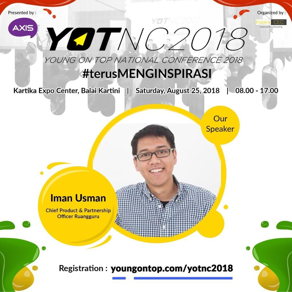 Yuk Kenalan Sama Iman Usman, Chief Product & Partnership Officer Ruangguru
