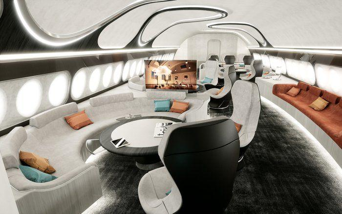 Gokil, Desain Jet Pribadi Airbus Ini Seperti Pesawat Luar Angkasa