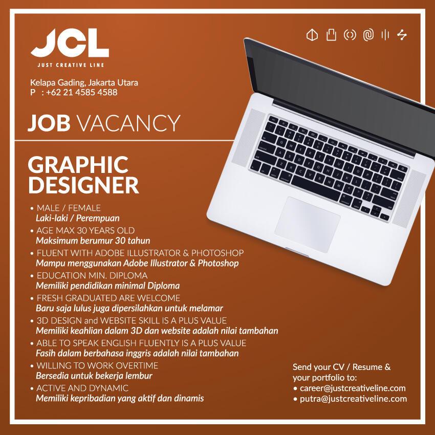 JOB VACANCY - Graphic Designer - Kelapa Gading