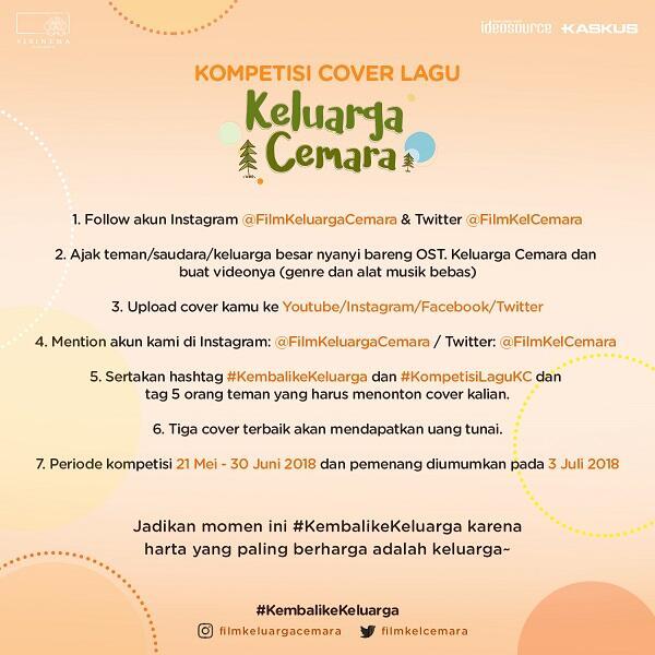 Dapat Uang Jutaan Rupiah dengan Ikut Kompetisi Cover Lagu Keluarga Cemara