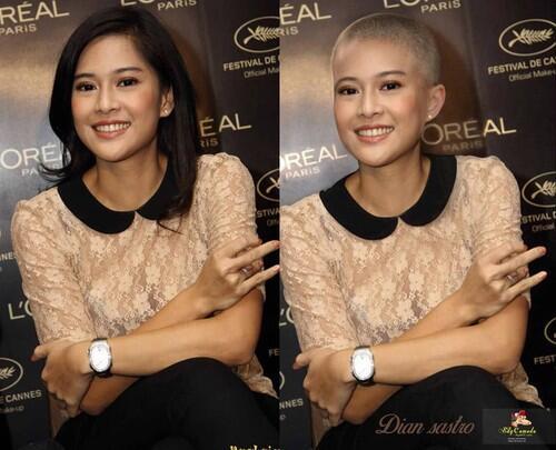 Penampilan Artis Indonesia Jika Botak, Tetap Cantik atau Kocak?