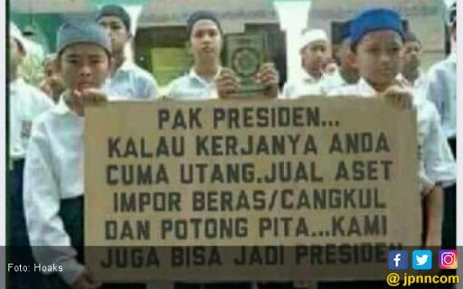 Foto Siswa SMP Minta Doa Diedit jadi Menghujat Presiden
