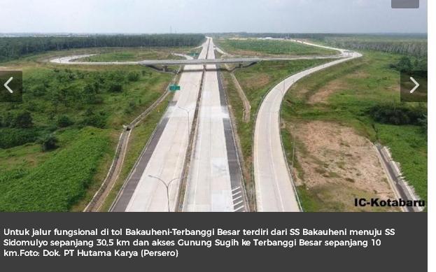 Asyik, Mudik Lebaran ke Sumatera Bisa Lewat Tol
