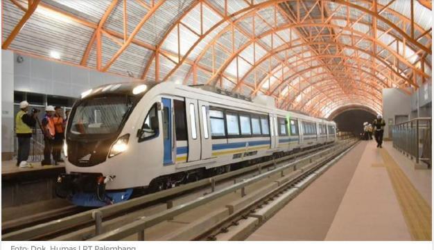 LRT Palembang Ditarget Beroperasi di 6 Stasiun Mulai 15 Juli 2018