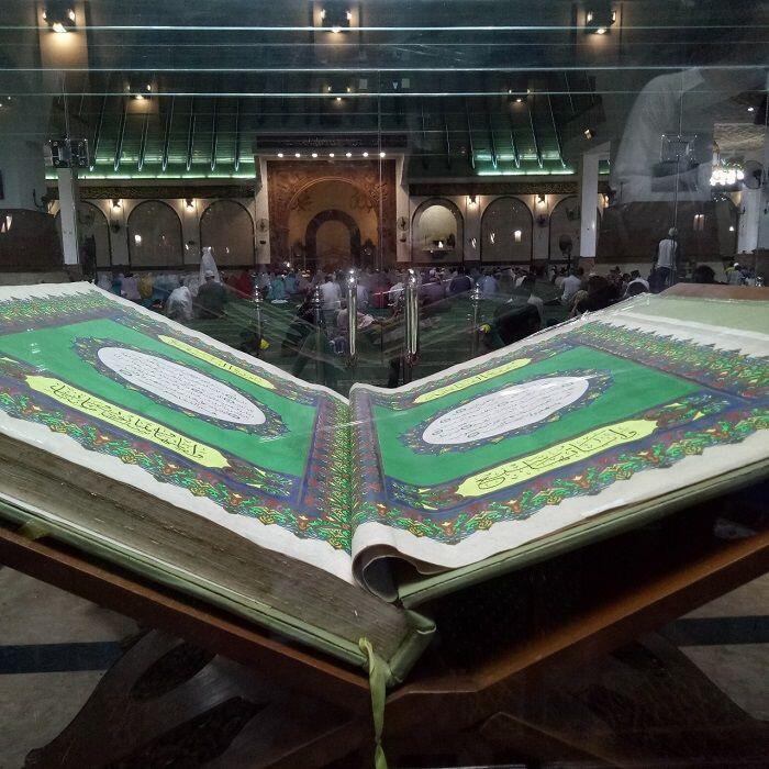 [Foto] Indahnya Masjid Agung Jawa Tengah di Malam Hari