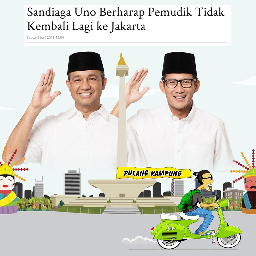 Sandiaga Uno Berharap Pemudik Tidak Kembali Lagi ke Jakarta