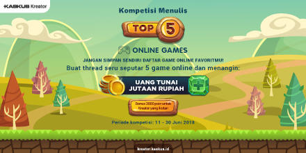 Apa TOP 5 Game Online Versi Lo? Kasih Tau di Sini!