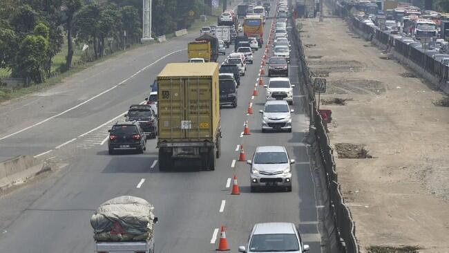 Tol Cikampek Sudah Lancar, Contraflow Dihentikan