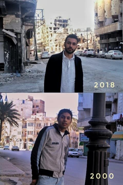 4 FOTO PRIA LIBYA INI DITEMPAT YANG SAMA MEMBUAT KITA KAGET DAN TERDIAM