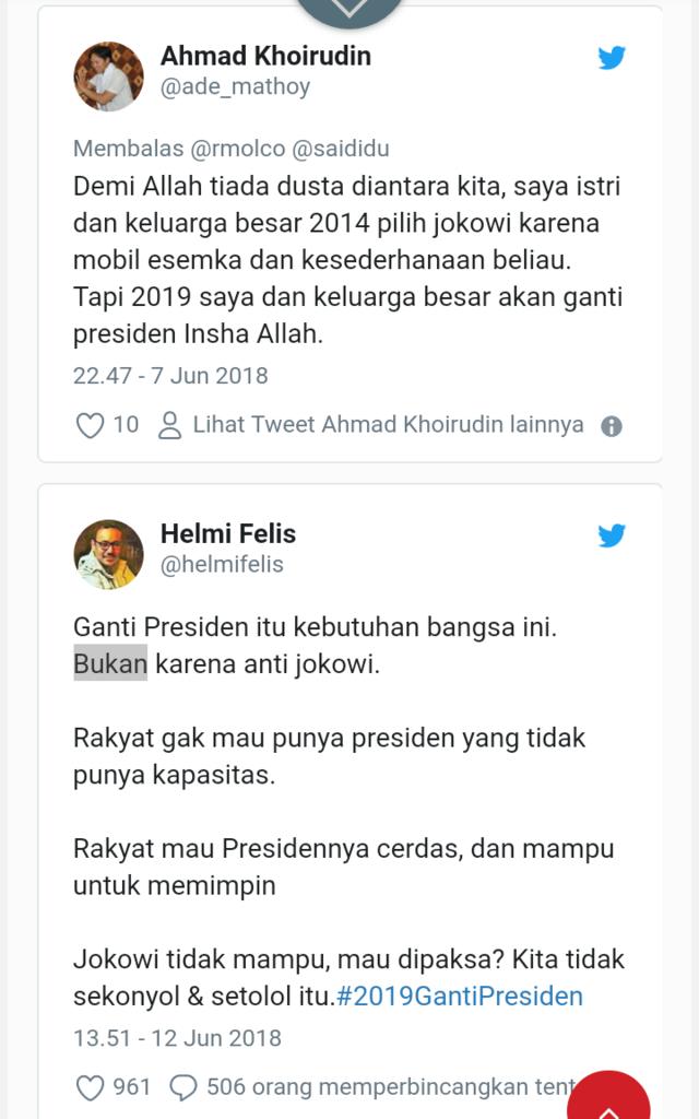Survei RMOL: 88% Pemilih Jokowi Tidak Akan Pilih Lagi di Pilpres 2019