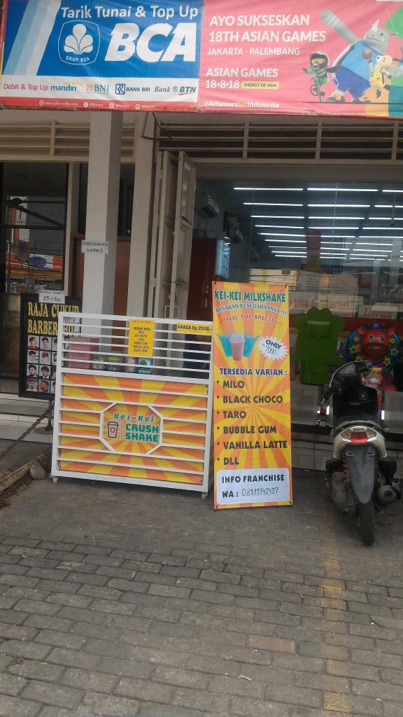 Oper Peluang Usaha minuman Siap Jualan Depan Alfamart Raden Saleh8 Ciledug