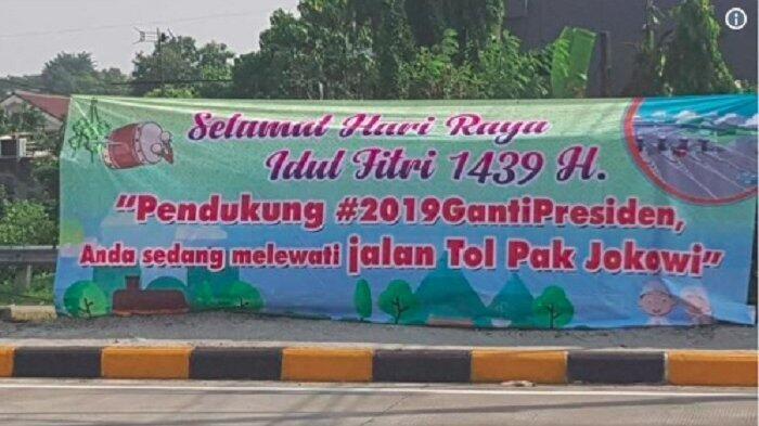 Gerindra Minta Jasa Marga Copot Spanduk 'Jalan Tol Jokowi'