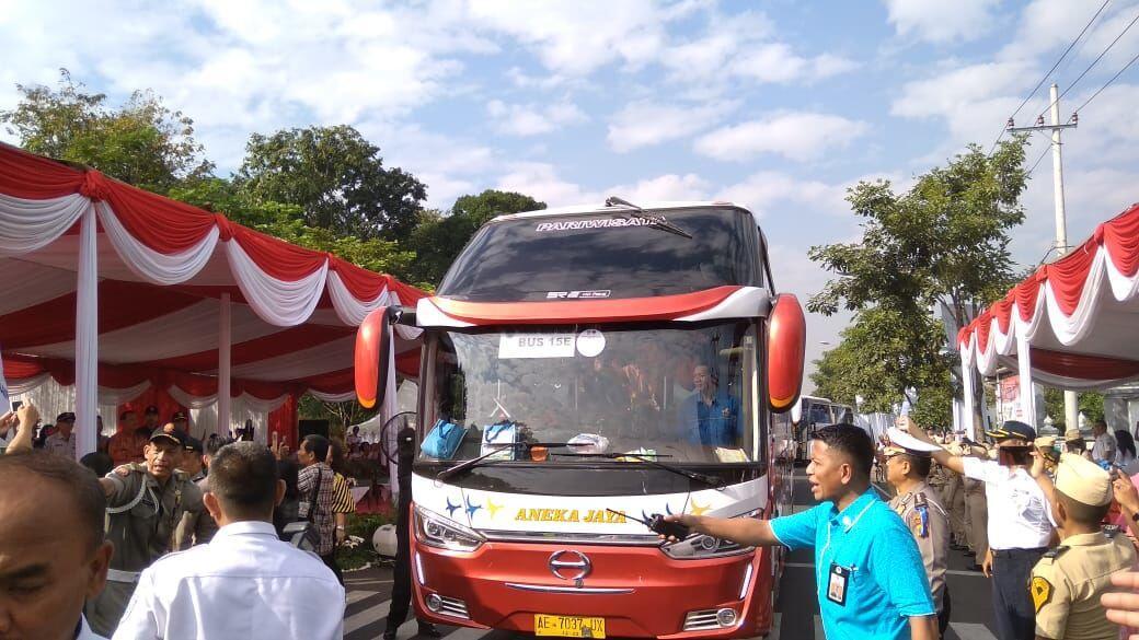 Bus Mudik Gratis Jatim Terbanyak di Indonesia