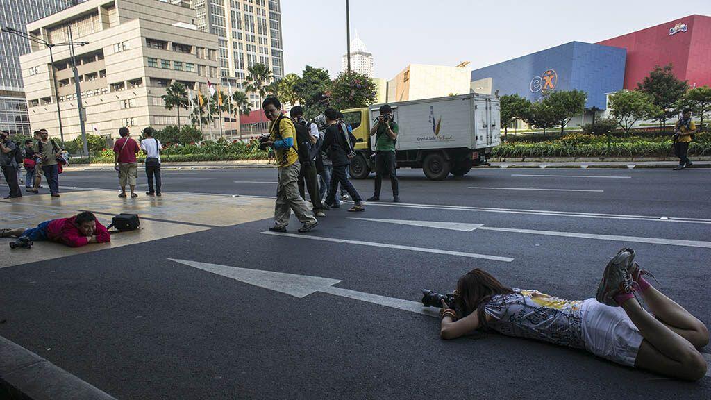 15 Potret Sunyi Jakarta Saat Mudik Lebaran, Tenang dan Bebas Polusi