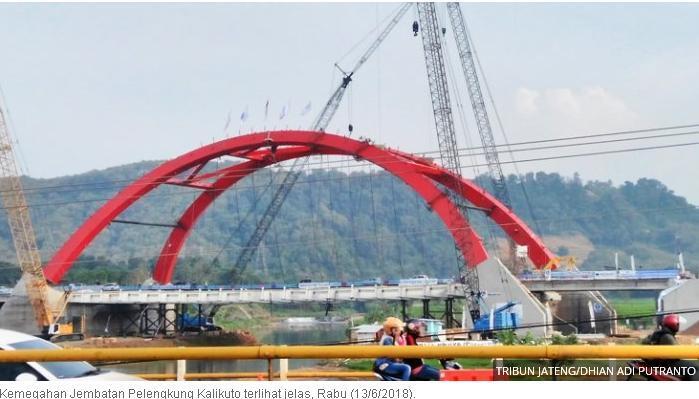 FOTO-FOTO: Kemegahan Jembatan Pelengkung Kalikuto Tol Semarang-Batang