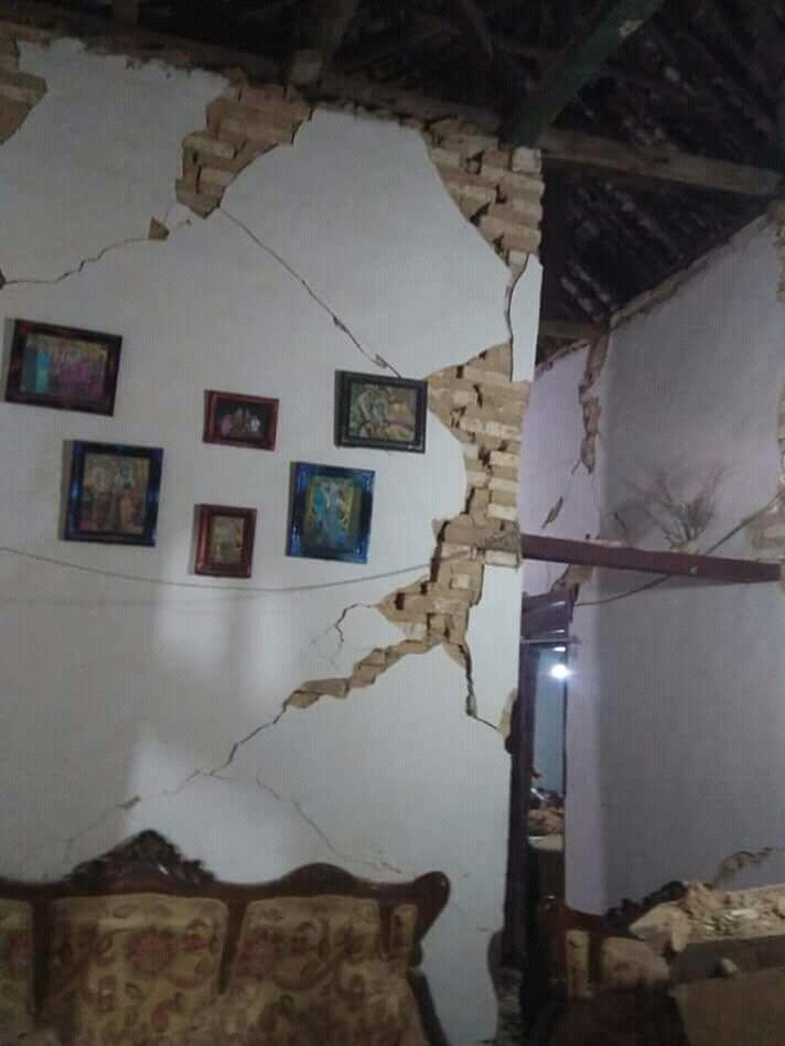 Sumenep Diguncang Gempa, Puluhan Rumah Rusak